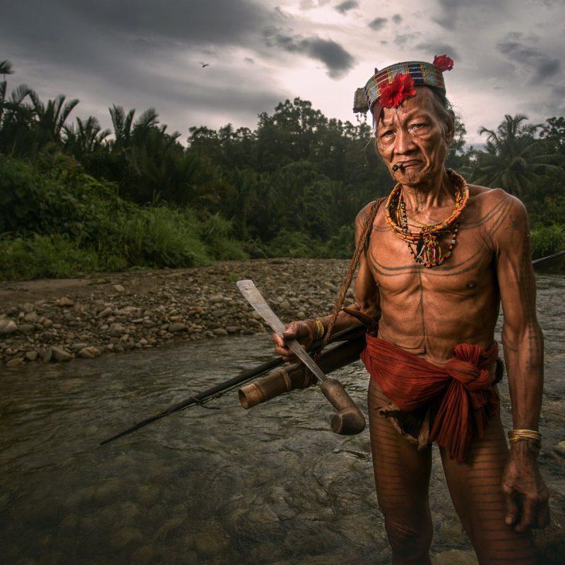 Mentawai Tribe Warrior on the Island of Siberut, Indonesia (2)
